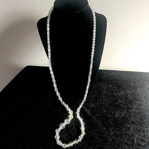Stunning  Lovely Crystal Bead Long Necklace